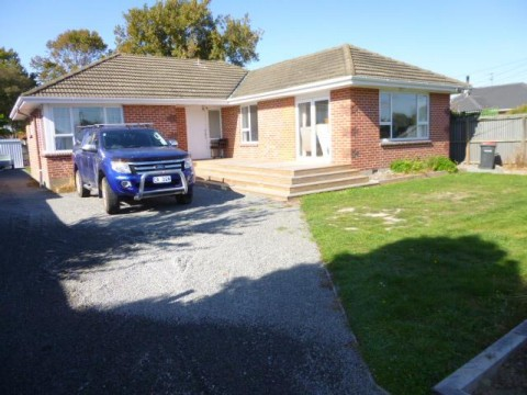 View profile: PAPANUI - 3 BEDROOM RENOVATED HOME WITH LARGE FENCED SECTION AND LOGBURNER